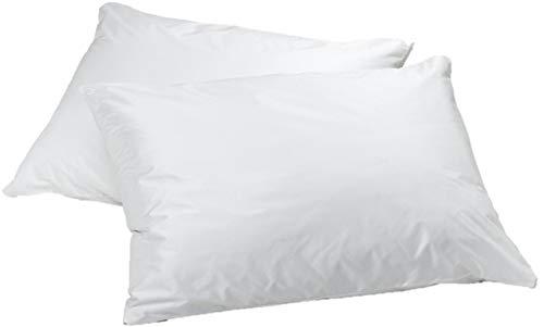 2 Pack Elaine Karen 100% Waterproof Vinyl Pillow Bed Bug Protector Zippered Pillowcase, Hypoallergenic Pillow Encasement Covers – Standard
