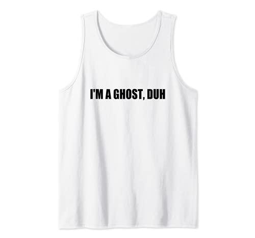 Disfraz de Halloween de ltima hora con texto en ingls 'I'm A Ghost Duh Camiseta sin Mangas