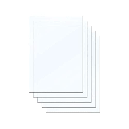 xiaoyu shop Smooth Surface,FEP Film Sheet 200140mm 0.15-0.2mm Thickness Transparent Release Film for Photon Resin 3D Printer SLA DLP 3D Printer Accessories, 5pcs