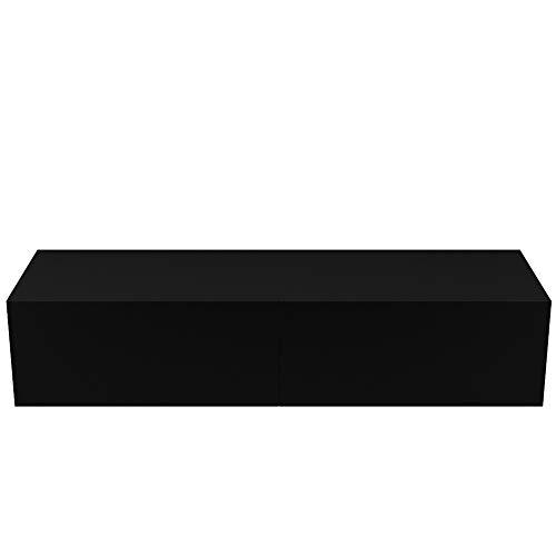 zcyg Mueble de TV con soporte para TV, 140 cm, montado en la pared, mueble de almacenamiento para sala de estar, dormitorio, muebles para el hogar (blanco)