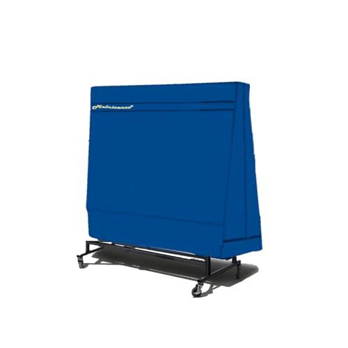 Abdeckung für Tischtennisplatte, Blaue Abdeckhaube, 600D Oxford Gewebe, reißfeste Schutzhülle für Tischtennisplatte (167×85×185cm)