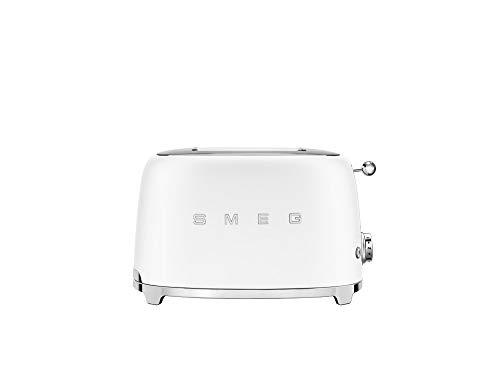 Smeg Retro 50's Style, 2 Slice Toaster, Self Centering, Multifunction, Matte White
