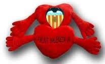 Peluche Corazon 28 cm.Valencia C.F