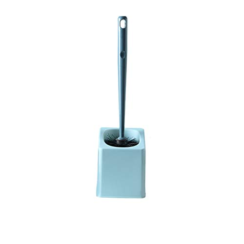 hongbanlemp Escobilla para Inodoro Cepillo de Inodoro montado con la manija Larga Limpieza Integral Conjunto de Cepillo de Limpieza de baño (Rosa/Azul Oscuro/Azul Claro) Escobillero Baño