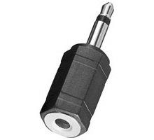 BestPlug Audio Adapter Aux in Out, 3,5mm Stereo Klinke Kupplung Buchse weiblich auf 3,5mm Mono Klinke Stecker männlich, Schwarz