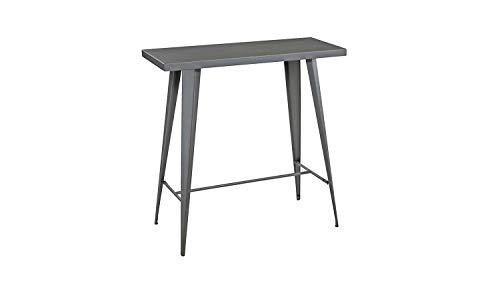 Möbel Akut Bartisch Stehtisch Konsolentisch Bistrotisch Partytisch Industrial Loft Industrie Design Stahl grau