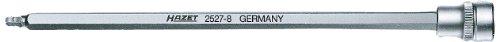 Hazet 2527-5 Inserto Chiave A Bussola Per Giravite Con Testa Sferica, Multicolore, Attacco Quadro, Cavo, 10 mm 3/8 di Pollice