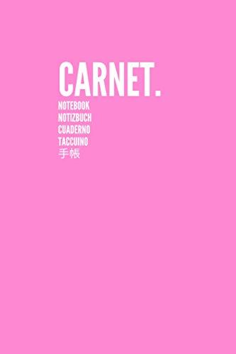 Carnet Notebook Notizbuch Cuaderno Taccuino 手帳: Carnet de Notes Journal Large, Vierge, Papier Ligné | Parfait pour le travail scolaire Enfants Étudiants Hommes Femmes Garçons et filles (Rose)