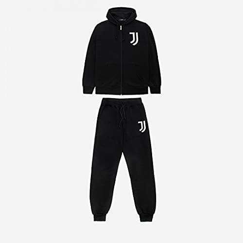 JUVE Juventus Tuta Hoodie Full Zip - Uomo - 100% Originale - 100% Prodotto Ufficiale - Colore Nero con Loghi Bianchi Stampati - Scegli la Taglia (Taglia M)