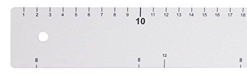 Backlineal aus weißem Polystyrol, in Zentimeter und 8/12 cm - Skalierung / Länge: 64 cm, Breite: 5 cm | ERK
