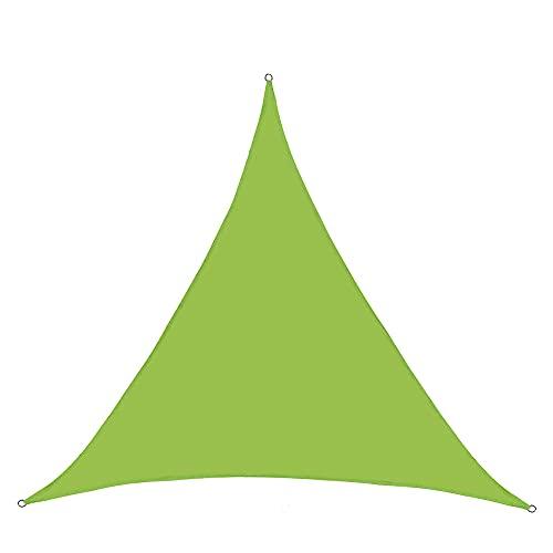 LICHUXIN Vela Sombra Triangular para Patio, Toldo Tela Oxford Impermeable para Jardín Al Aire Libre De 10 X 10 X 10 Pies con Accesorios De Instalación, Vela Solar para Terraza De Patio Villa,Verde
