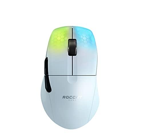 ROCCAT Kone Pro Air Ergonomische Hochleistungs-Wireless-Gaming-Maus, Weiß