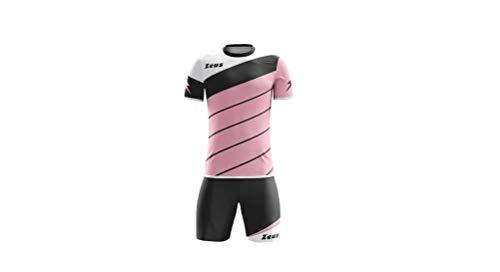 Zeus Kit Lybra Uomo Completino Completo Calcio Calcetto Torneo Scuola Sport Training (rosa-nero-bianco, M)