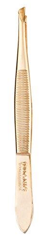 Titania Solingen Pince à épiler oblique, étroit, Très plaqué or, 1er Pack (1 x 11 g)