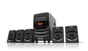 (Renewed) Philips SPA5128B 5.1 CH 40W Bluetooth Multimedia Speakers