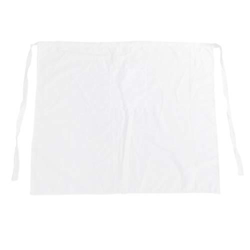 UPKOCH Tablier de Coton 1pc Lavable Durable Tabliers de Chef Tablier de Cuisine réutilisable Tablier de Cuisson pour la Maison Boulangerie Maison (Blanc)