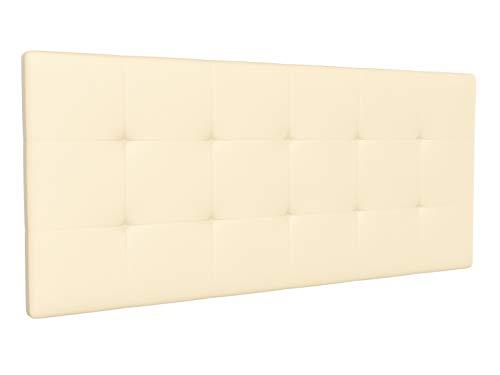 LA WEB DEL COLCHON - Cabecero tapizado Corfú para Cama de 210 (220 x 70 cms) Beige   Cama Juvenil   Cama Matrimonio   Cabezal Cama  