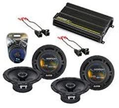 Compatible with Chevy Trailblazer 2002-2009 OEM Speaker Upgrade Harmony (2) R65 & CXA300.4 Amp (Renewed)