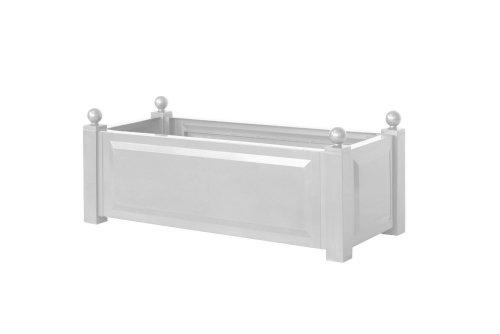 Preisvergleich Produktbild KHW 11220 Pflanzkasten rechteckig,  100 x 43 x 40 cm,  weiß
