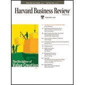 Harvard Business Review, September 2006 copertina