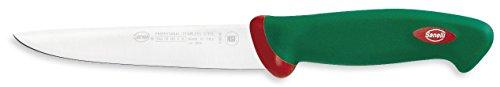 Sanelli Premana Professional Coltello Disosso Emilia, Acciaio Inossidabile, Verde/Rosso, 29.0x3.0x4.0 cm