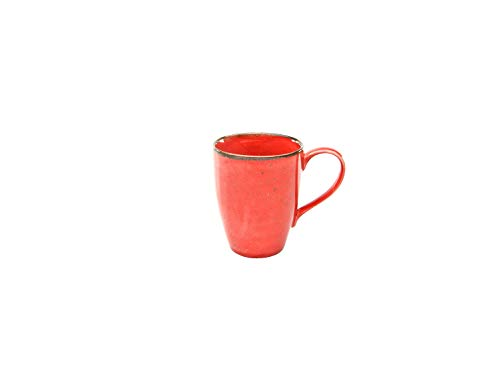 Creatable, 6-er Kaffeebecher 30 cl, Nature Collection, RED 22073, Steinzeug, rot