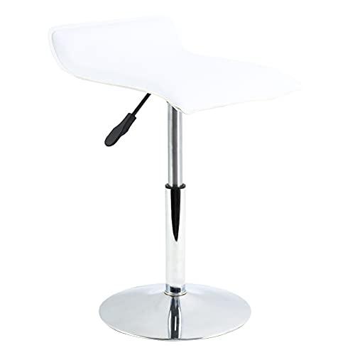 FURWOO Silla de mostrador Silla de tienda Silla de compras Silla giratoria y elevadora multifuncional de cuero PU Adecuado para oficina Spa Caja registradora (Blanco)