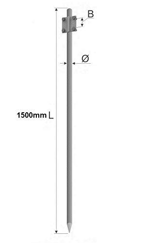 Tiefenerder Erder Erdung Staberder Ø16 1,5m feuerverzinkt nach DIN 50164-2 mit Klemme
