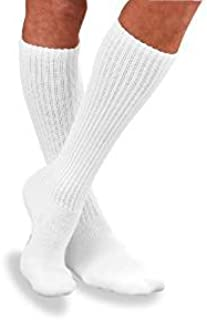 BSN Medical 110833 JOBST Sensifoot Diabetic Sock, Knee High, Closed Toe, Large, White