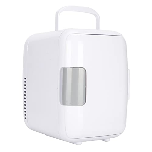 Mini Nevera, CalefaccióN de RefrigeracióN de Doble Uso EléCtrica Mini Nevera 4L Refrigerador con Cable de ConexióN Para AutomóVil Enfriador EléCtrico PortáTil para El Cuidado de La Piel Medicamentos