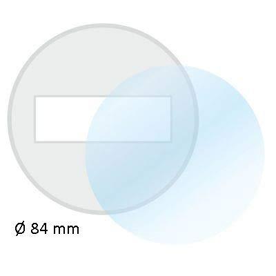 Ablösbare Trägerfolie I 84 mm Ø rund I Durchsichtig klar I Klebefolie-Untergrund für Kfz Feinstaub-Plakette Vignetten Umwelt-Plakette Maut I Wetterfest I kfz_629