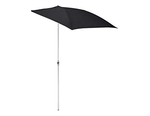 Opulence Trading - Sombrilla semicircular con protección UV (160 x 100 cm), color negro