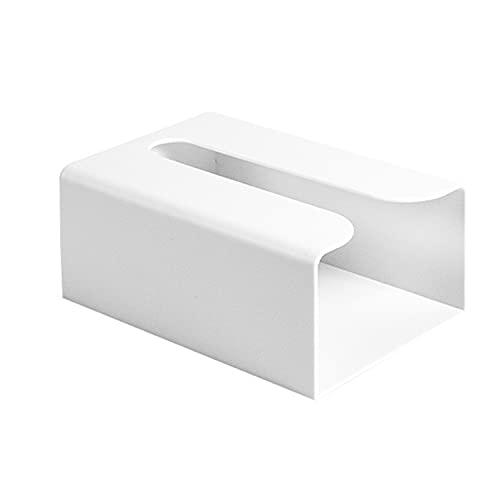 Irishom Dispensador de toallas de papel caja de pañuelos montado en la pared sin taladrar papel toalla titular del inodoro bolsas de basura dispensador hogar cocina