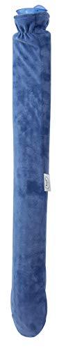 Lange Wärmflasche mit Bezug für Nacken, Schulter und Bauch (80cm / 2,5 Liter)