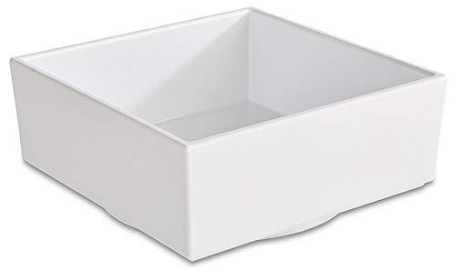 APS 15486 ASIA PLUS Platz Melamin Bento Box, 7, 5 x 7, 5 x 6, 5 cm 0.16 ltr., Schwarz/Rot