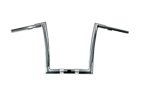 Dominator Industries 1 1/4 inch Miter Cut Ape Hanger Handlebar, 13 inch Rise, Chrome Compatible With 2015-2019 Road Glides