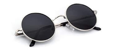 Wstomys Gafas de Sol Redondas de Metal Hombres Mujeres Gafas de Sol Retro Gafas de Sol de Aviador clásicas Gafas de Sol ultraligeras Gafas de Sol de conducción Gafas de Sol Retro