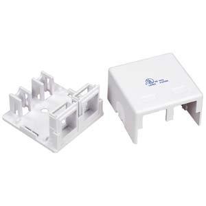 InstallerParts 2 Puerto RJ45 caja de montaje en superficie, blanco (caja solo): Amazon.es: Electrónica