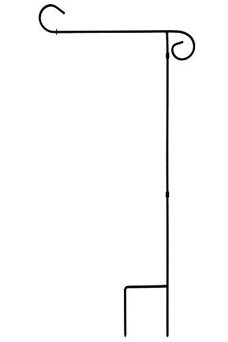 Toland Home Garden – Gartenflaggenständer, schwarz, 89 cm hoch, dekorativ, wetterfest, Halterung für 31,8 x 45,7 cm Flaggen