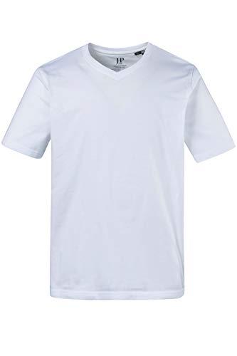 JP 1880 Herren große Größen bis 8XL, T-Shirt aus Jersey, Basic, V-Shirt, Reine Baumwolle, V-Ausschnitt, weiß 3XL 702415 20-3XL