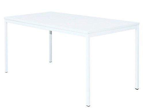 Schreibtisch Profi Besprechungstisch Büromöbel Verkaufstisch Computertisch 160x80cm 331107, Weiß