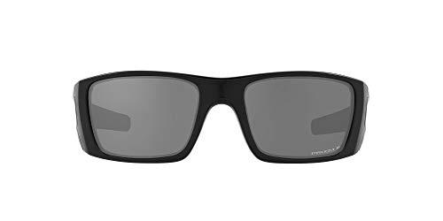 Oakley Men's OO9096 Fuel Cell Rectangular Sunglasses, Matte Black/Prizm Black Polarized, 60mm