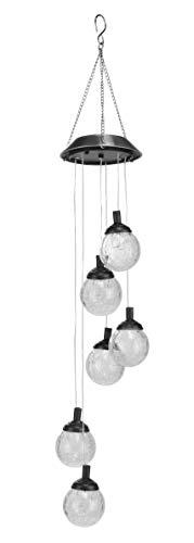 LED Solar Windspiel - inkl 6 Kugeln mit Farbwechsel - Garten Deko Solarleuchte Solarlampe