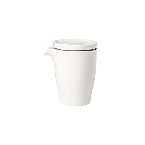 Villeroy & Boch Coffee Passion Cafetière, 2 pièces, 340 ml, Porcelaine Premium, Blanc