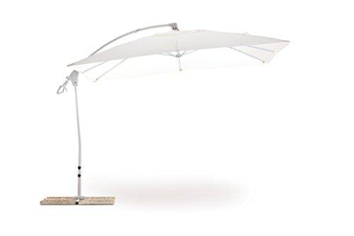 My Garden M0429-08 Suitset Parasol Blanc, 300 x 300 x 270 cm