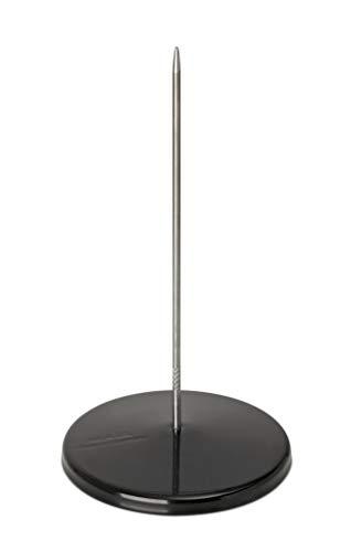 Maul Zettelspießer, Bonspieß, Rostfreies Edelstahl, pulverbeschichtetes Metall, Ø 8, 5 cm x 17 cm, Schwarz