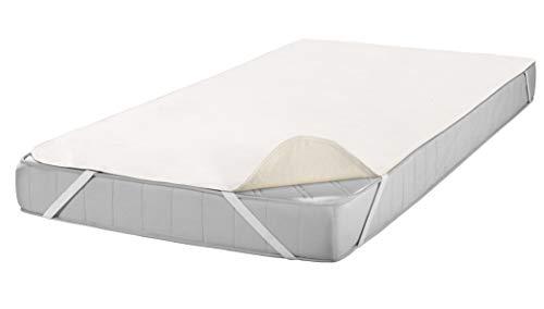 SETEX Molton Matratzenschutz, 100 x 200 cm, Eckgummis, 100 % Baumwolle, Basic, Naturfarben 1607100200001001