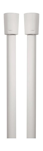 AquaSu 72556 9 Brauseschlauch 1,50 m , Duschschlauch , Kunststoff , Weiß , Beidseitig mit Konus