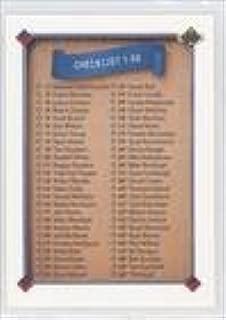 Checklist (Baseball Card) 1991 Upper Deck Final Edition - Box Set [Base] #100F