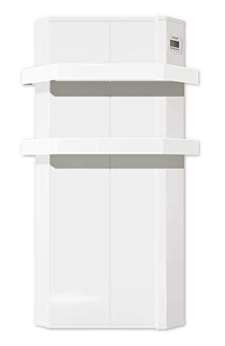 HJM ENYA 750 Radiador secatoallas eléctrico | 750W | SIN OBRAS | blanco | 12.5 x 46 x 76 cm | Programable por horas, días, semanas, W